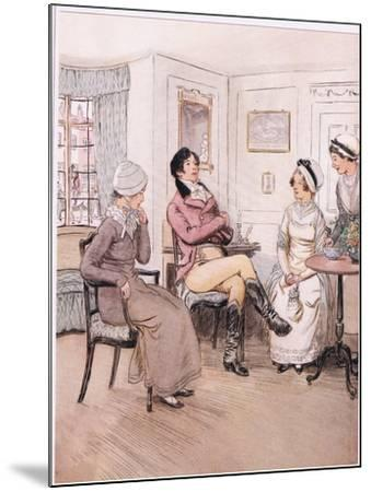 Valentine: I Regret That They are Out, Patty, But I Will Await their Return-Hugh Thomson-Mounted Giclee Print