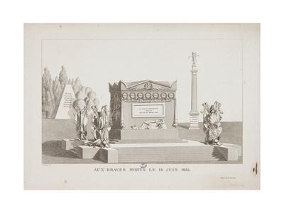 The Brave Dead of the 18 June 1815, 1815-Hippolyte Lecomte-Framed Giclee Print