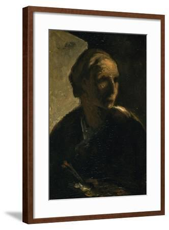 The Painter, C.1863-66-Honore Daumier-Framed Giclee Print