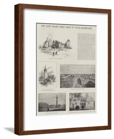 The Late Grand Duke Louis of Hesse-Darmstadt-Herbert Railton-Framed Giclee Print