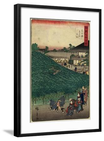 The Pine Tree of Naniwaya in Sakai of Senshu Province, September 1859--Framed Giclee Print