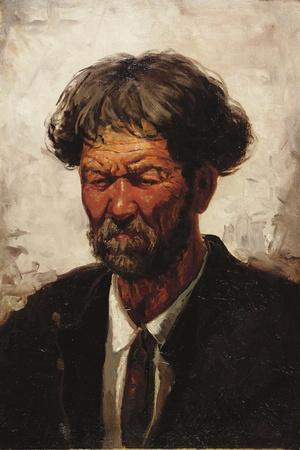 Portrait of a Man-Ilya Efimovich Repin-Stretched Canvas Print