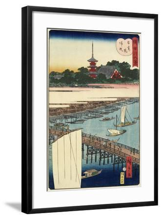 Returning Sails at Azuma Bridge, November 1861--Framed Giclee Print