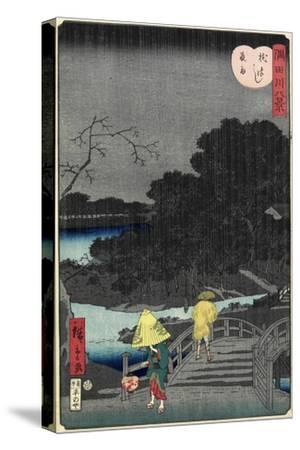 Night Rain at Makura Bridge, November 1861--Stretched Canvas Print