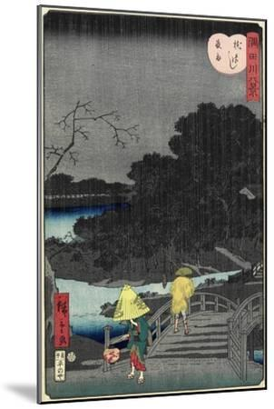 Night Rain at Makura Bridge, November 1861--Mounted Giclee Print