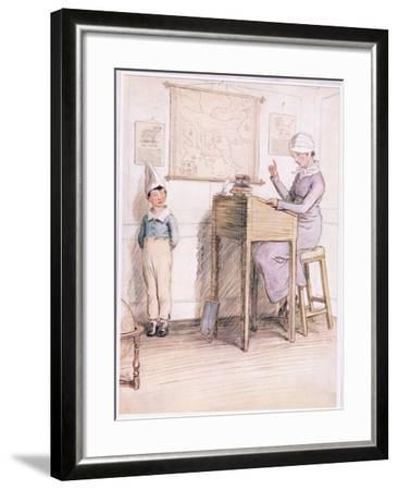 Unhappy Boy, are You Ashamed of Yourself?-Hugh Thomson-Framed Giclee Print