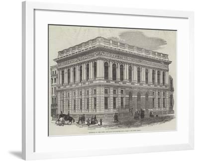 Exterior of the Army and Navy Club-House, Pall-Mall-J^l^ Williams-Framed Giclee Print