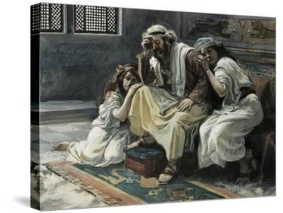 David Mourns His Son Ammon-James Jacques Joseph Tissot-Stretched Canvas Print