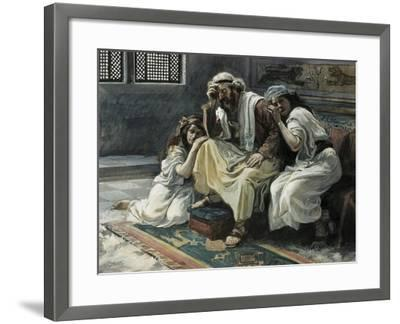 David Mourns His Son Ammon-James Jacques Joseph Tissot-Framed Giclee Print