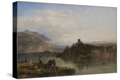 Morning on Lake Garda, Italy, 1861-James Vivien de Fleury-Stretched Canvas Print