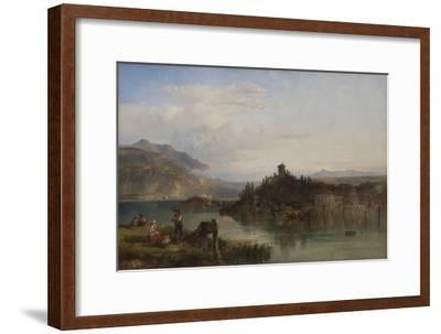 Morning on Lake Garda, Italy, 1861-James Vivien de Fleury-Framed Giclee Print