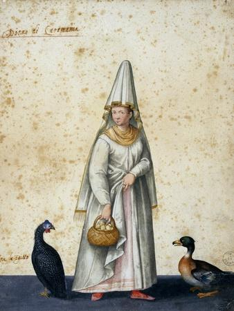 Turkish Peasant-Jacopo Ligozzi-Framed Giclee Print