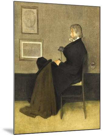 Portrait of Thomas Carlyle, C.1880 (Hand-Coloured Photogravure, on White Wove Paper)-James Abbott McNeill Whistler-Mounted Giclee Print