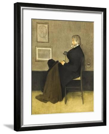 Portrait of Thomas Carlyle, C.1880 (Hand-Coloured Photogravure, on White Wove Paper)-James Abbott McNeill Whistler-Framed Giclee Print