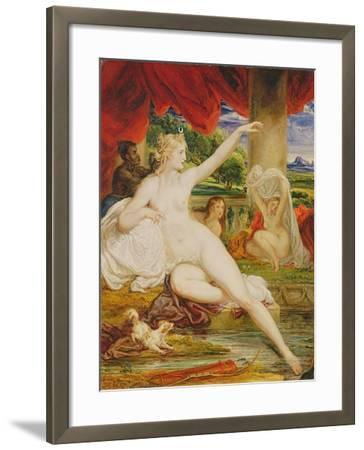 Diana at the Bath, 1830-James Ward-Framed Giclee Print