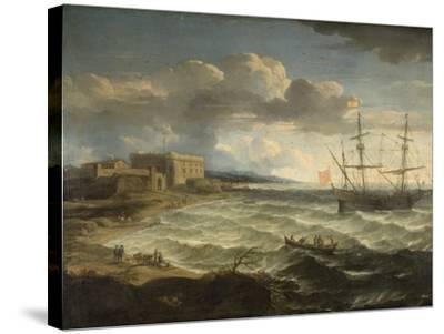Coast Scene - the Debarkation-Jacob Appel-Stretched Canvas Print