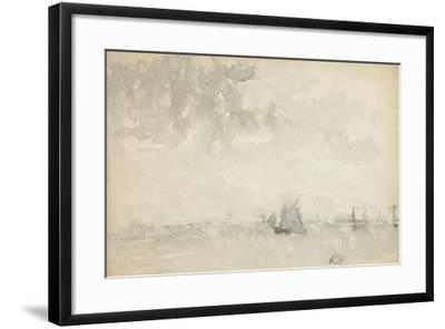 Grey and Silver - North Sea, C.1884-James Abbott McNeill Whistler-Framed Giclee Print