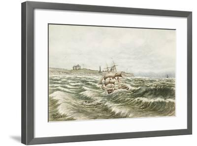 Rescue Off Tynemouth-James Henry Cleet-Framed Giclee Print