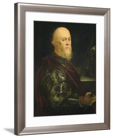Venetian General, 1570-75-Jacopo Robusti Tintoretto-Framed Giclee Print