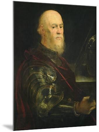 Venetian General, 1570-75-Jacopo Robusti Tintoretto-Mounted Giclee Print