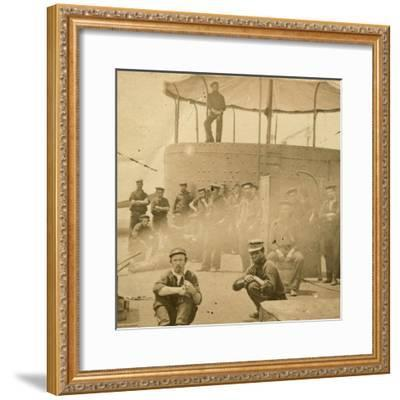 Crew on the Deck of the USS Monitor, 1862-James F^ Gibson-Framed Photographic Print