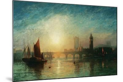 View of Westminster Bridge and the Houses of Parliament-James Francis Danby-Mounted Giclee Print