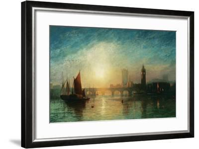 View of Westminster Bridge and the Houses of Parliament-James Francis Danby-Framed Giclee Print