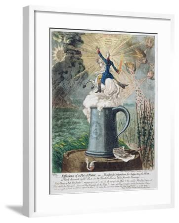Effusions of a Pot of Porter-James Gillray-Framed Giclee Print