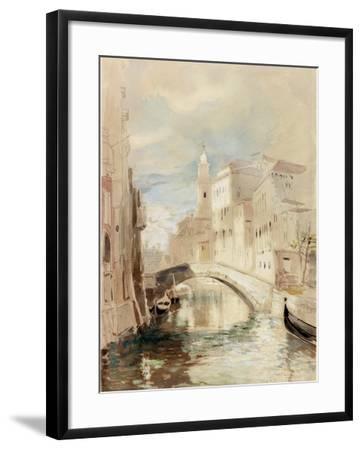 The Merchant of Venice on the Rialto Bridge-James Holland-Framed Photographic Print