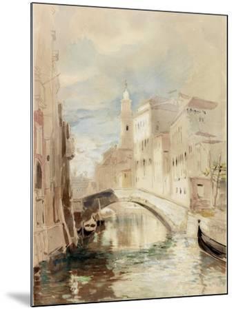 The Merchant of Venice on the Rialto Bridge-James Holland-Mounted Photographic Print