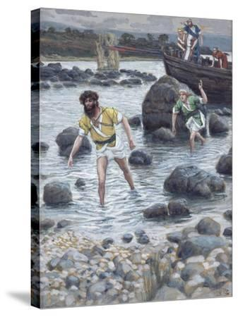 The Calling of St. James and St. John for 'The Life of Christ'-James Jacques Joseph Tissot-Stretched Canvas Print