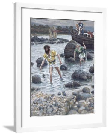 The Calling of St. James and St. John for 'The Life of Christ'-James Jacques Joseph Tissot-Framed Giclee Print