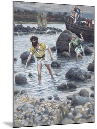 The Calling of St. James and St. John for 'The Life of Christ'-James Jacques Joseph Tissot-Mounted Giclee Print
