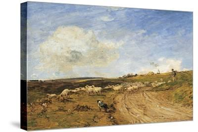 A Breezy Day-James Aumonier-Stretched Canvas Print