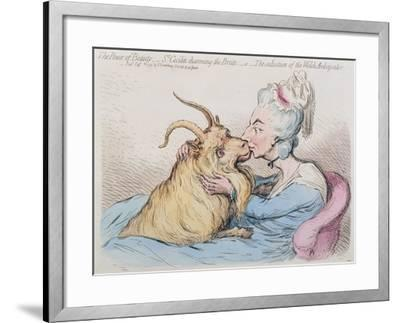 The Power of Beauty: St. Cecilia Charming the Brute-James Gillray-Framed Giclee Print