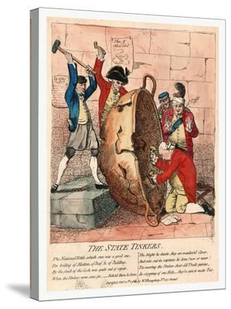 The State Tinkers-James Gillray-Stretched Canvas Print