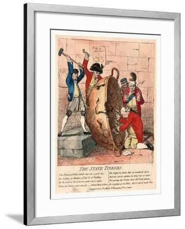 The State Tinkers-James Gillray-Framed Giclee Print