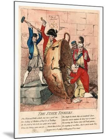 The State Tinkers-James Gillray-Mounted Giclee Print