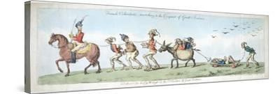 French Volunteers, Marching to the Conquest of Great Britain, Published by Hannah Humphrey in 1799-James Gillray-Stretched Canvas Print