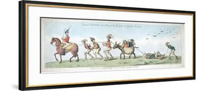 French Volunteers, Marching to the Conquest of Great Britain, Published by Hannah Humphrey in 1799-James Gillray-Framed Giclee Print