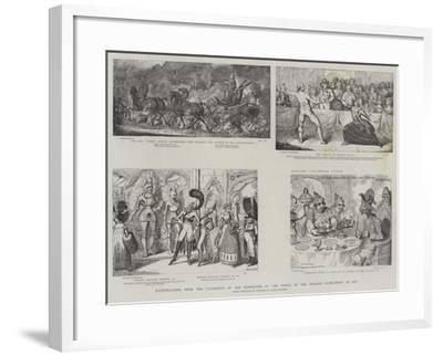 Illustration from the Catalogue of the Exhibition of the Works of the English Humourists in Art-James Gillray-Framed Giclee Print