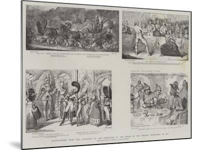 Illustration from the Catalogue of the Exhibition of the Works of the English Humourists in Art-James Gillray-Mounted Giclee Print
