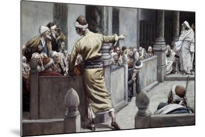 Blind Man Tells His Story to the Jews-James Jacques Joseph Tissot-Mounted Giclee Print