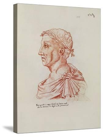 Ms.266 Fol.271 V Petrarch (1304-74), from 'Recueil D'Arras' (Red Chalk on Paper)-Jacques Le Boucq-Stretched Canvas Print