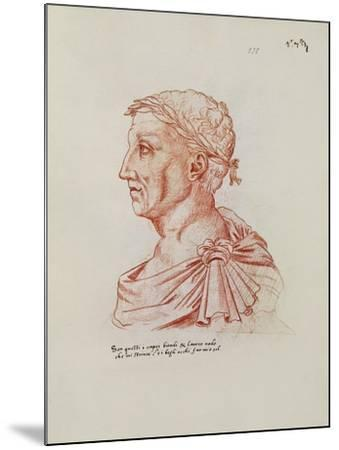Ms.266 Fol.271 V Petrarch (1304-74), from 'Recueil D'Arras' (Red Chalk on Paper)-Jacques Le Boucq-Mounted Giclee Print