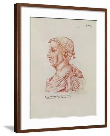 Ms.266 Fol.271 V Petrarch (1304-74), from 'Recueil D'Arras' (Red Chalk on Paper)-Jacques Le Boucq-Framed Giclee Print