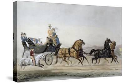 The Walk-James Barenger-Stretched Canvas Print