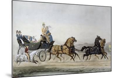 The Walk-James Barenger-Mounted Giclee Print