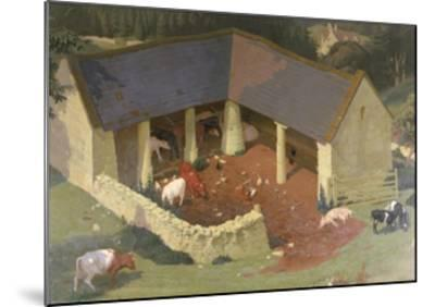 The Field Byre, 1933-James Bateman-Mounted Giclee Print