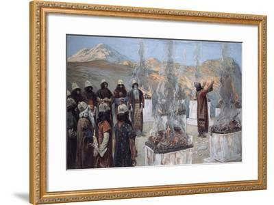 The Seven Altars of Balaam-James Jacques Joseph Tissot-Framed Giclee Print